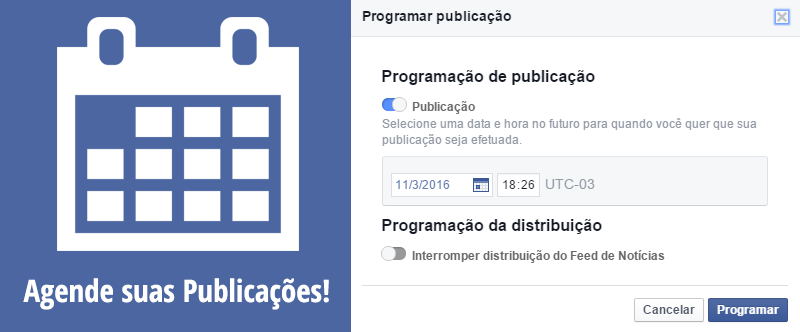 agendar post no facebook