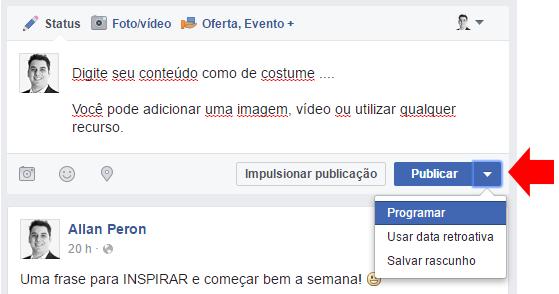 agendar post facebook