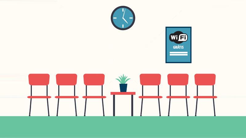 sala de espera com wifi